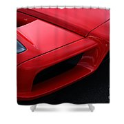 Red Enzo Shower Curtain
