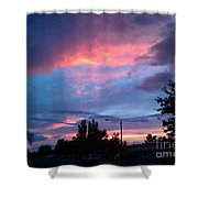 Red Evening Arizona Sky Shower Curtain