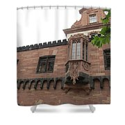 Red Facade Shower Curtain