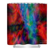 Red Face Abstract Shower Curtain