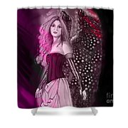 Red Fairy Shower Curtain