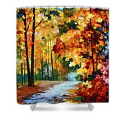 Red Fall Shower Curtain