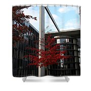 Red Fall Tree Shower Curtain