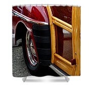 Red Fendered Woodie Shower Curtain