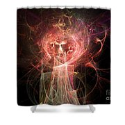 Red Fire Angels With Tower #2 Shower Curtain
