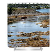 Red Flat At Low Tide Shower Curtain