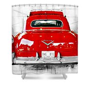Red Fleetwood Shower Curtain