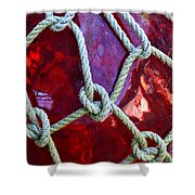 Red Float Shower Curtain