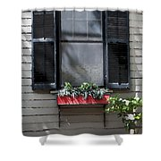 Red Flower Box St Augustine Shower Curtain