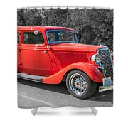 Red Ford 3d21740 Shower Curtain