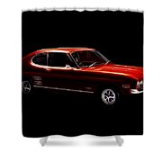 Red Ford Capri Shower Curtain
