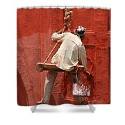 Red Fort Painter Shower Curtain