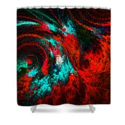 Red Fury Shower Curtain