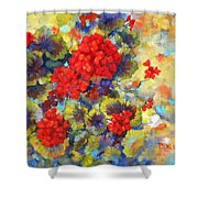 Red Geraniums II Shower Curtain