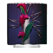 Red Ginger Shower Curtain