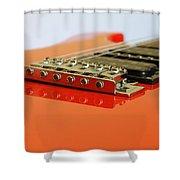 Red Giutar Shower Curtain