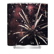Red Glare Shower Curtain