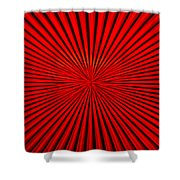 Red Glass Abstract 1 Shower Curtain