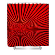 Red Glass Abstract 3 Shower Curtain
