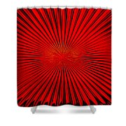 Red Glass Abstract 4 Shower Curtain