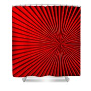Red Glass Abstract 5 Shower Curtain
