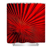 Red Glass Abstract 6 Shower Curtain