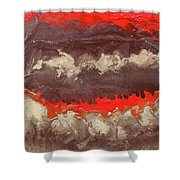 Red Gold And Brown Abstract Shower Curtain
