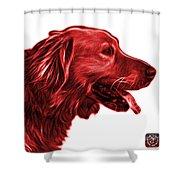 Red Golden Retriever - 4047 Fs Shower Curtain