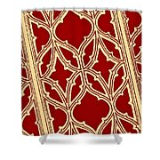 Gothic Pattern On Red Shower Curtain