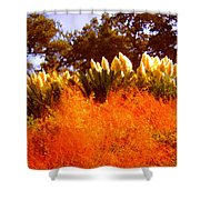 Red Grass Shower Curtain