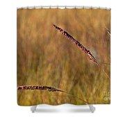 Red Grass Shower Curtain