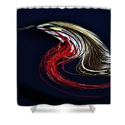 Red Grey Ghost Shower Curtain