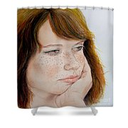Red Hair And Freckled IIi Shower Curtain