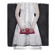 Red Handbag Shower Curtain