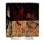 Red Hands Shower Curtain