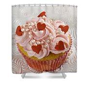 Valentine Cupcakes  Shower Curtain