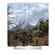 Red Hills 3 Shower Curtain
