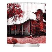 Red Homestead Garden Shower Curtain
