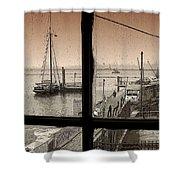 Red Hook Window Shower Curtain