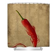 Red Hot Chili Pepper Poster  Shower Curtain