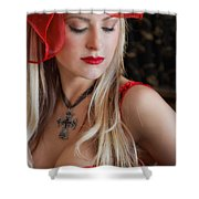 Red Hot Shower Curtain by Evelina Kremsdorf