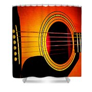 Red Hot Guitar Shower Curtain