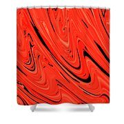 Red Hot Lava Flowing Down Shower Curtain