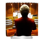 Red Hot Organist Shower Curtain