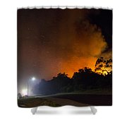 Red Hot Shower Shower Curtain