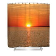 Red-hot Sunset Shower Curtain
