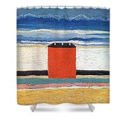 Red House, 1932 Oil On Canvas Shower Curtain