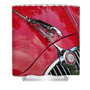Red Jaguar 3.8 Shower Curtain