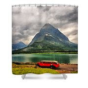 Red Jammer Shower Curtain