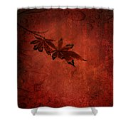 Red Japanese Maple On Red Shower Curtain